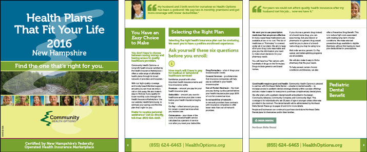 Community Health Options Plans Brochure