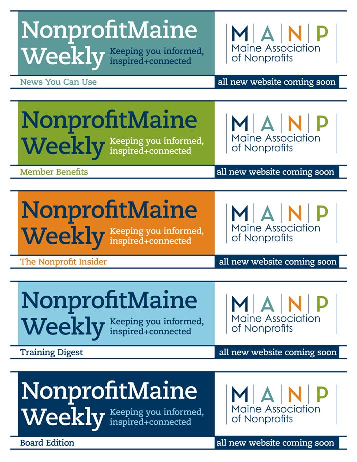 MANP E-News Mastheads